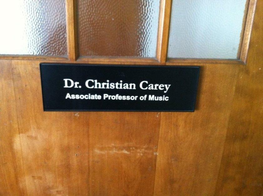 New Sign on My Office Door