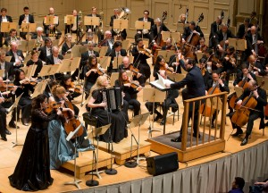Boston Symphony Orchestra at Symphony Hall in Boston, Thursday, Feb. 23, 2017. (Photo by Winslow Townson) Andris Nelsons, conductor Baiba Skride, violin Harriet Krijgh, cello Elsbeth Moser, bayan