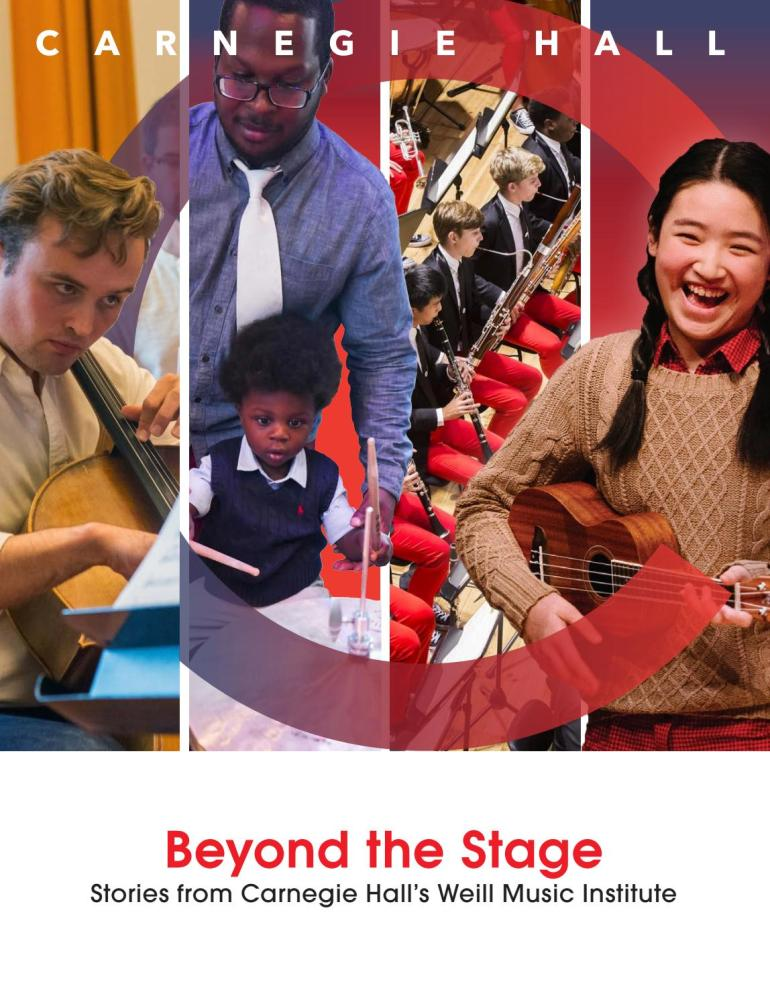 Beyond the Stage Carnegie Hall Cover