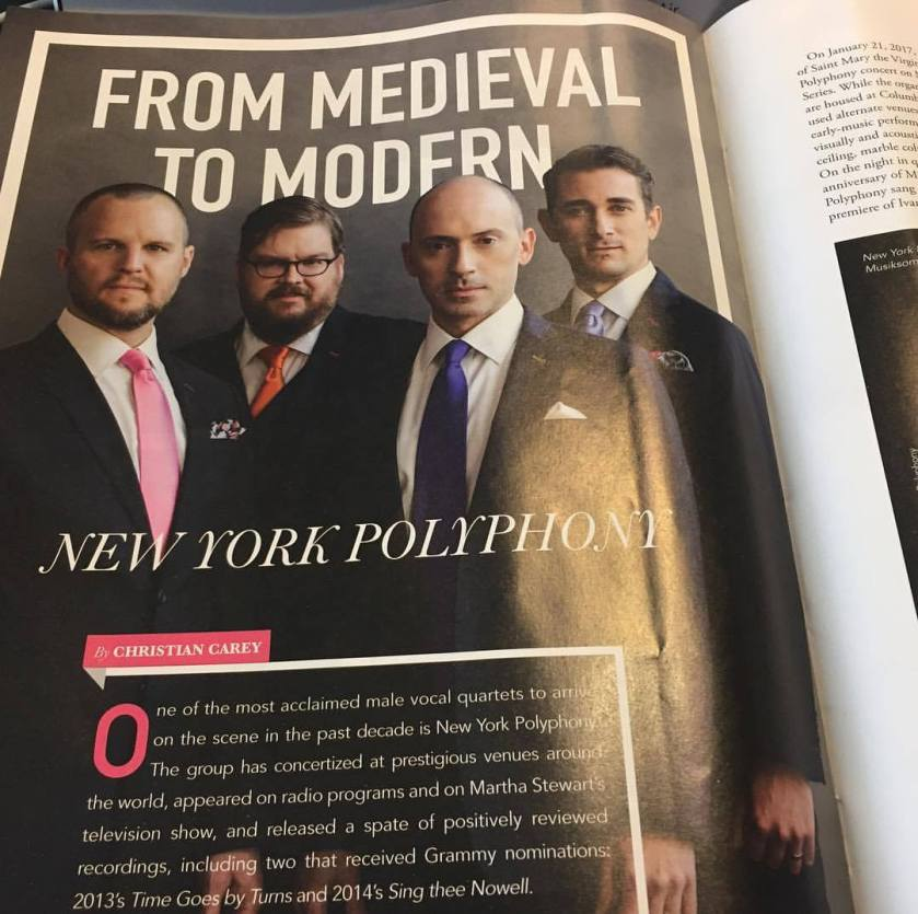 New York Polyphony article in EMA